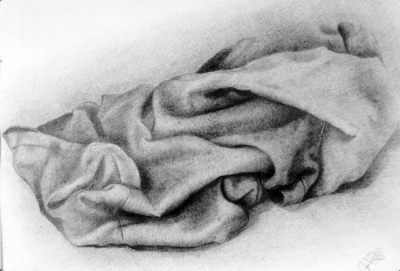 Cloth. Pencil on paper.
