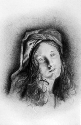 Beauty. Pencil on paper.
