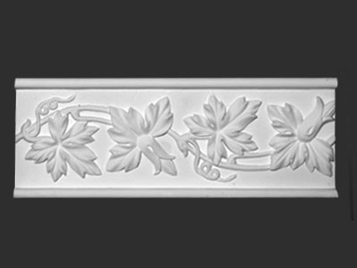 Vine Flower-Leaf Design. Plaster.