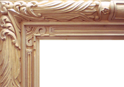 Wood Carving Design for Corner Picture Frame (detail). 75 x 48 inches