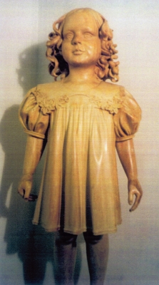 "Young girl. Wood. 3' 5"" (Private collection, NY)"