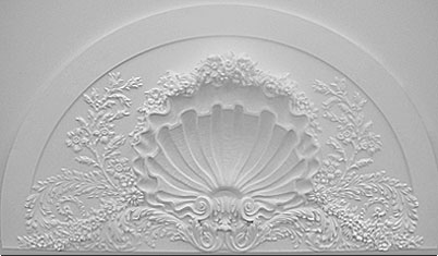 Shell. Design for panel relief molding. Clay. 3.4 feet x 2.4 feet