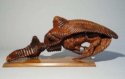 """Armadillo, 2010. Wood (walnut). H. 10"""" x W. 24"""" x D. 8"""""""